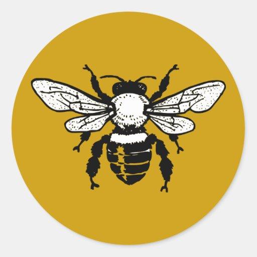 Pegatina de la abeja de Mellifera de los Apis