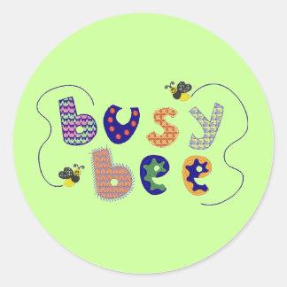 Pegatina de la abeja ocupada