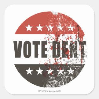 Pegatina de la abolladura del voto