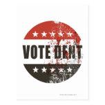 Pegatina de la abolladura del voto tarjetas postales