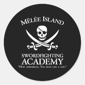 Pegatina de la academia de Swordfighting de la