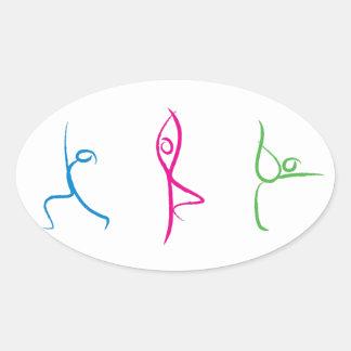 Pegatina de la actitud de la yoga