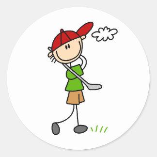 Pegatina de la actitud del golf