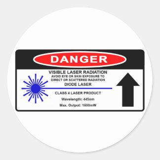 Pegatina de la advertencia de laser 445nm de la