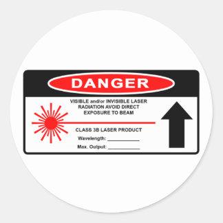 Pegatina de la advertencia de laser de la clase 3B