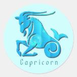 Pegatina de la aguamarina de la muestra del Capric