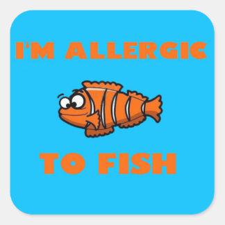 pegatina de la alarma de la alergia de los