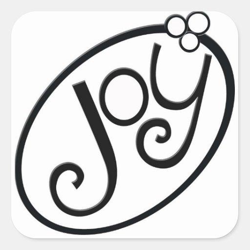 Pegatina de la alegría