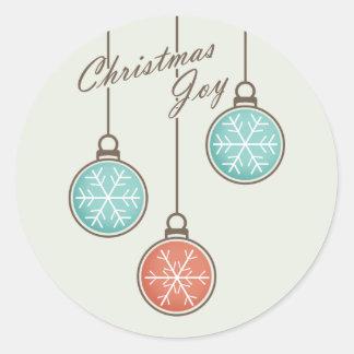 Pegatina de la alegría del navidad