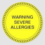 Pegatina de la alergia alimentaria