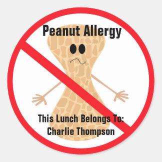 Pegatina de la alergia del cacahuete