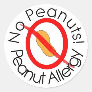 ¡Pegatina de la alergia del cacahuete ningunos