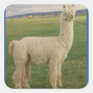 Pegatina de la alpaca del Va Va Va Voom