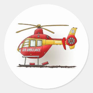Pegatina de la ambulancia del helicóptero
