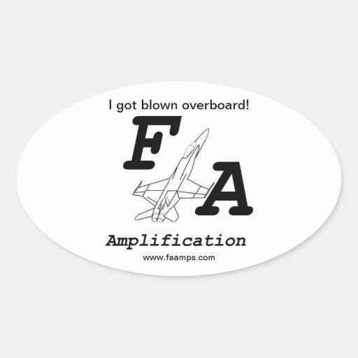 Pegatina de la amplificación de F/A
