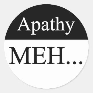 Pegatina de la apatía