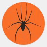 Pegatina de la araña de Halloween
