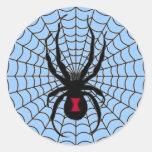 Pegatina de la araña de la viuda negra