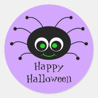 Pegatina de la araña de Toon del feliz Halloween