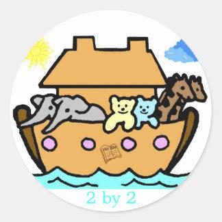 Pegatina de la arca de Noahs