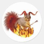 Pegatina de la ardilla de Krampus