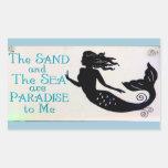 pegatina de la arena y de la sirena del mar