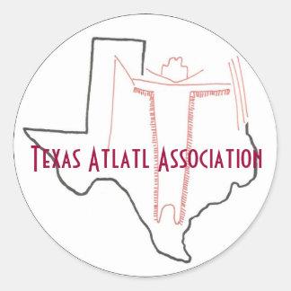 Pegatina de la asociación de Tejas Atlatl