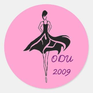 Pegatina de la asociación ODU de la moda