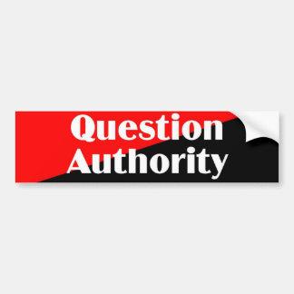 Pegatina de la autoridad 2 de la pregunta pegatina para auto
