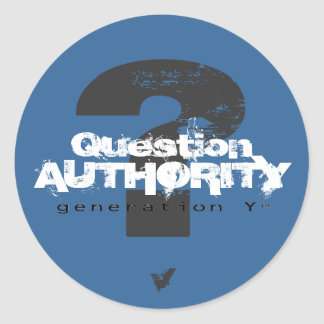 Pegatina de la autoridad V de la pregunta