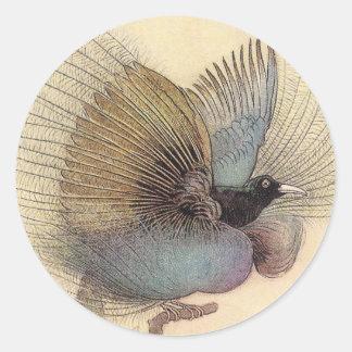 Pegatina de la ave del paraíso SM