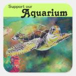 Pegatina de la ayuda del acuario de la tortuga de