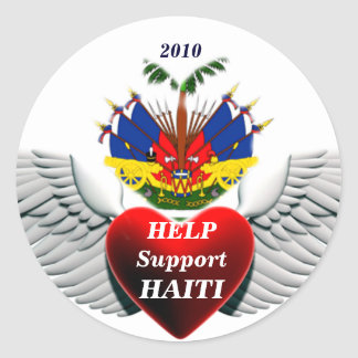 Pegatina de la AYUDA HAITI_