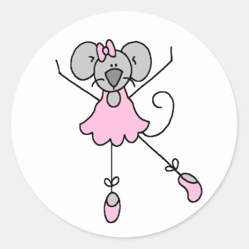 Pegatina de la bailarina tres del ratón