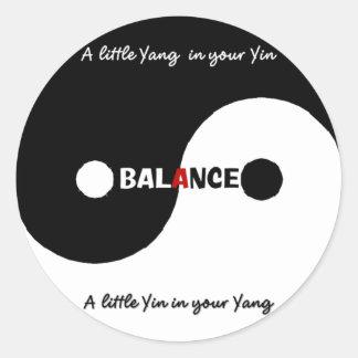 Pegatina de la balanza de Yin Yang