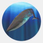 Pegatina de la ballena azul