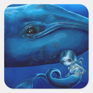 """Pegatina de la """"ballena azul grande"""""""
