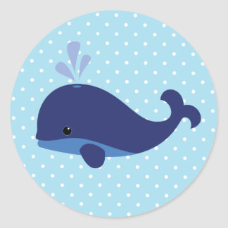 Pegatina de la ballena de azules cielos