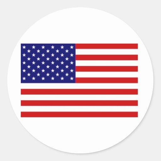 Pegatina de la bandera americana