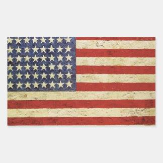Pegatina de la bandera americana del vintage