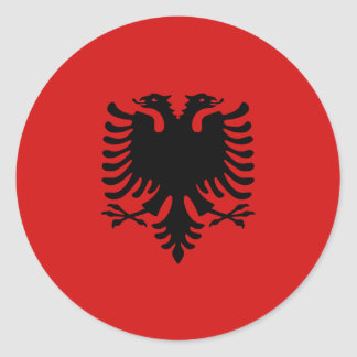 Pegatina de la bandera de Albania Fisheye
