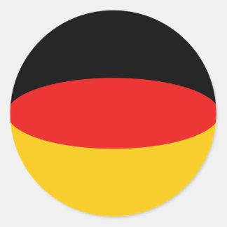 Pegatina de la bandera de Alemania Fisheye