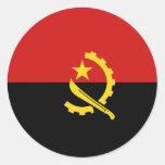 Pegatina de la bandera de Angola Fisheye