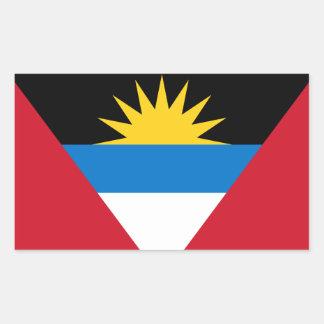 Pegatina de la bandera de Antigua y de Barbuda