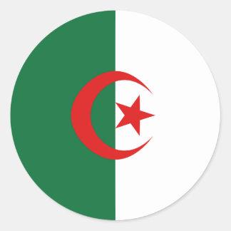 Pegatina de la bandera de Argelia Fisheye