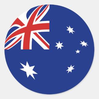 Pegatina de la bandera de Australia Fisheye