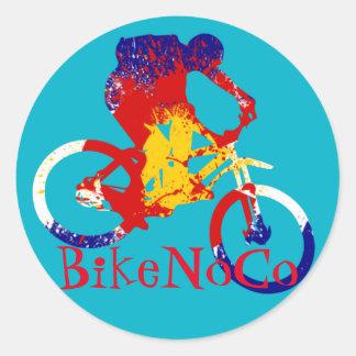 Pegatina de la bandera de BikeNoCo Colorado