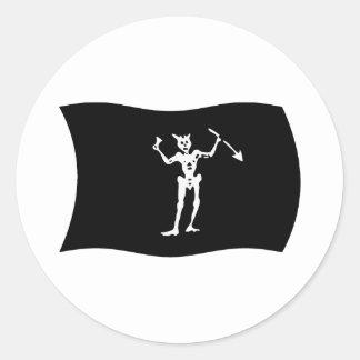 Pegatina de la bandera de Blackbeard