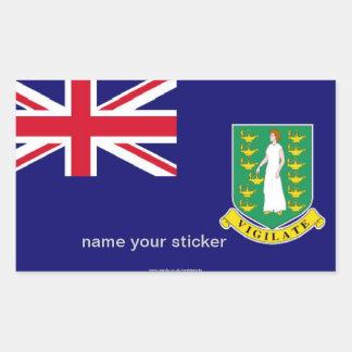 Pegatina de la bandera de British Virgin Islands