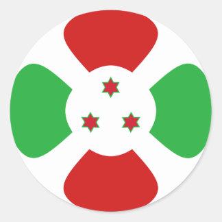 Pegatina de la bandera de Burundi Fisheye